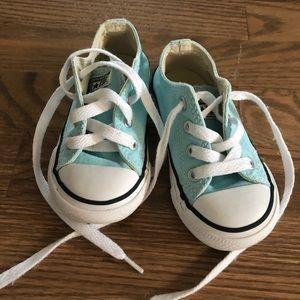 Toddler light blue Converse